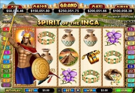 Slotastic Players Walks Away with $146,088 'Spirit of the Incas' Jackpot