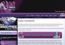 Crazy Vegas Casino Introduces the Accumulator Tournament