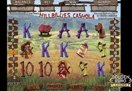 Hillbillies Cashola has Arrived at Golden Euro Casino