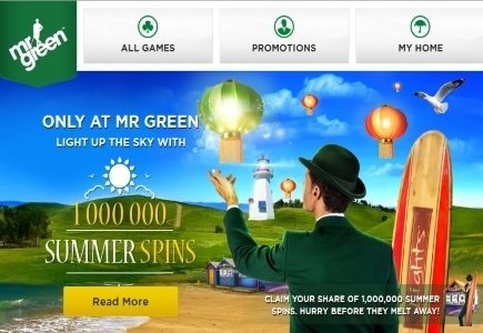 Get Your Share of 1 Million Free Spins Only at Mr. Green