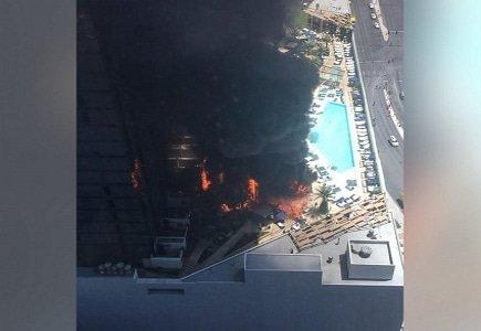Cosmopolitan Las Vegas Pool Fire