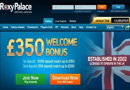 Roxy Palace Pays Out Major Millions Progressive Jackpot