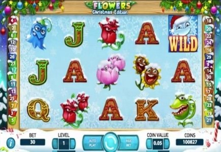 NetEnt's Decorates Flowers Slot for Christmas