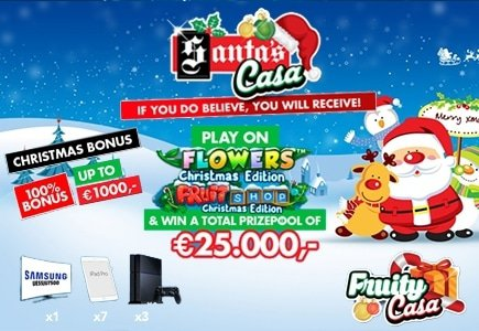 Christmas & New Year Promotions at Fruity Casa Casino