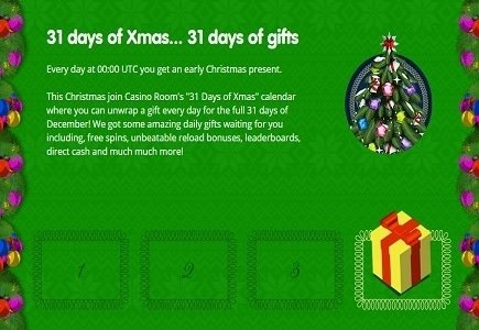Open a New Gift Every Day with CasinoRoom's 31 Days of Xmas