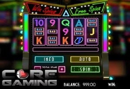 CORE Gaming Lights Up the Online Gambling World with the Vegas Lights Video Slot