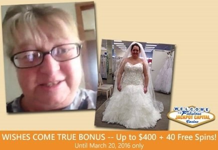 Jackpot Capital Makes Dream Wedding Dress a Reality