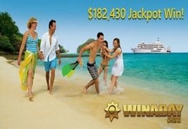 WinADay Casino Player Wins $182,430 on Tropical Treat