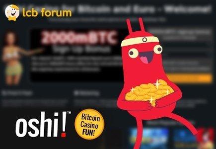 Oshi Casino New Rep on LCB forum