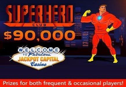 Jackpot Capital $90,000 Superhero Club Bonus Event