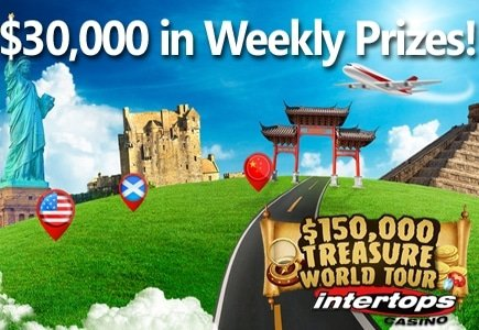 The $150,000 Treasure World Tour Begins at Intertops Casino