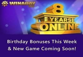 8 Years of WinADay Casino
