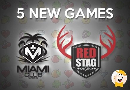 Miami Club and Red Stag Casinos Add 5 New Games to Mobile