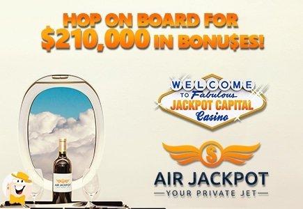 Travel the World with Jackpot Capital's $210,000 Air Jackpot Bonus Event