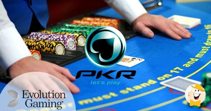 Pkr launches live casino in collaboration with evolution gaming