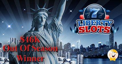 Liberty slots player scores a 46k money shot