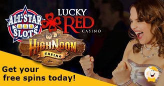 All Star Slots, High Noon and Lucky Red Casinos Free Chips are Up For Grabs in LCB Shop!