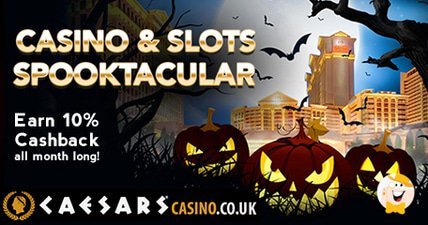 Caesars casino and slots spooktacular get cashback all october long at caesars casino