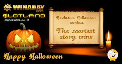 Take part in slotland and win a day exclusive halloween contest prizes and scares for lcbers