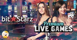 Evolution Powered Live Casino Launches at BitStarz