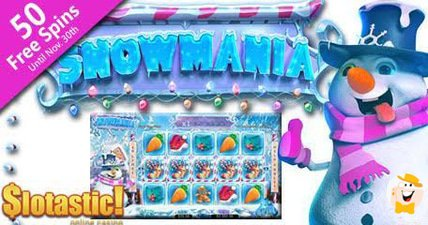 A blizzard of snowmania bonuses blows into slotastic casino