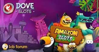 Amazon and Dove slots casino rep on the LCB forum