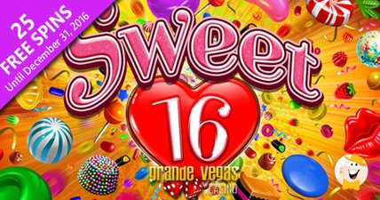 25 free spins to try sweet 16 at grande vegas