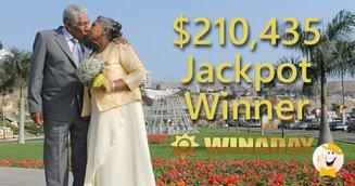 $210K Win A Day Jackpot Win