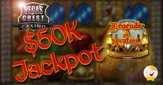 Legends of Avalon Awards Over $50K at Vegas Crest Casino