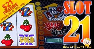 'Slot 21' $17 Freebie from Slotland