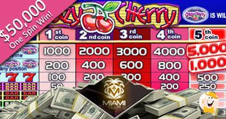 Crazy cherry slot awards  50000 at miami club casino