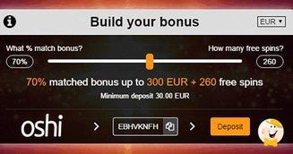 Build Your Bonus at Oshi