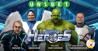 StakeLogic's Darts Heroes Live on Unibet