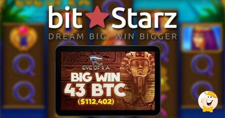 Bitstarz celebrates  112 402 eye of ra win