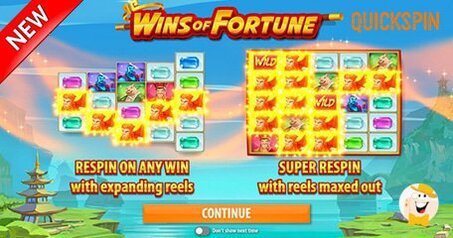 Quickspin releases new slot wins of fortune
