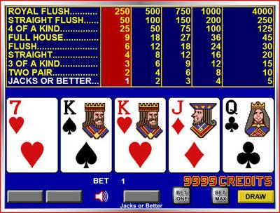 Online video poker Jacks